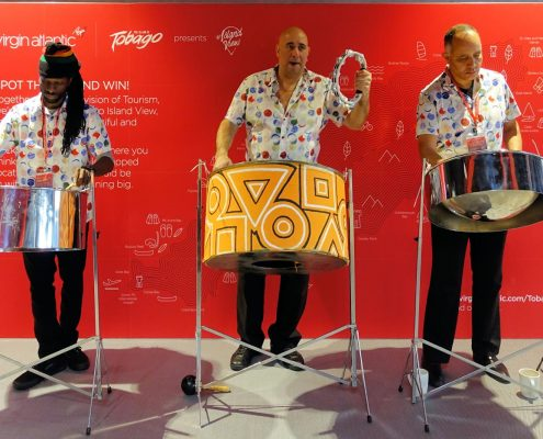 Our steel band at Virgin HQ in 2018