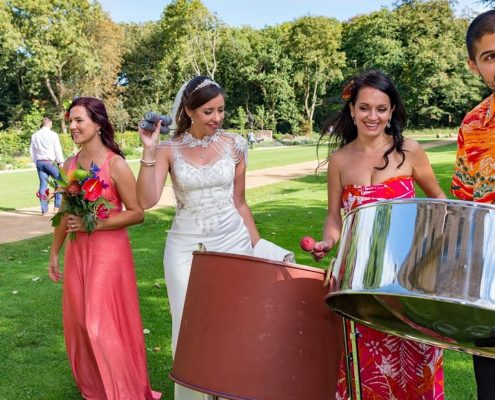 Solid Steel Band Wedding Music - with the bride