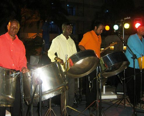 Our band with steel drums in Greece 2005