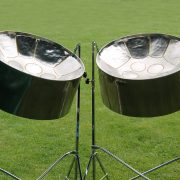 picture of two steel drums