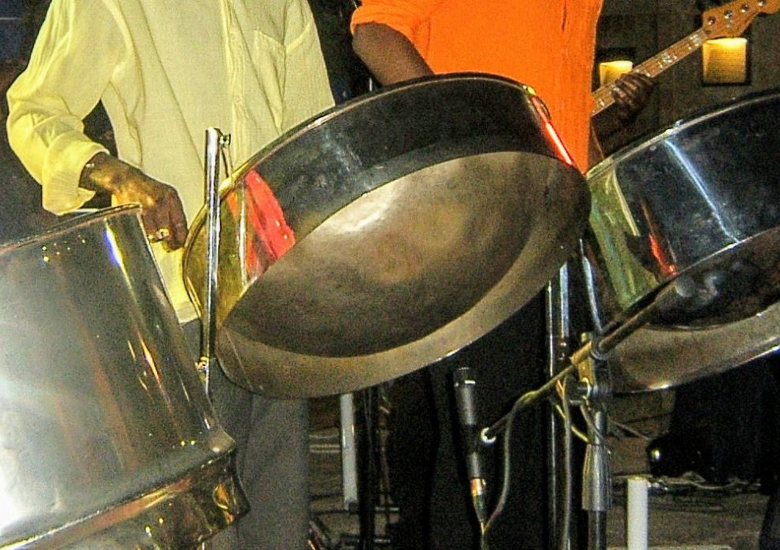steel drums in our steel combo