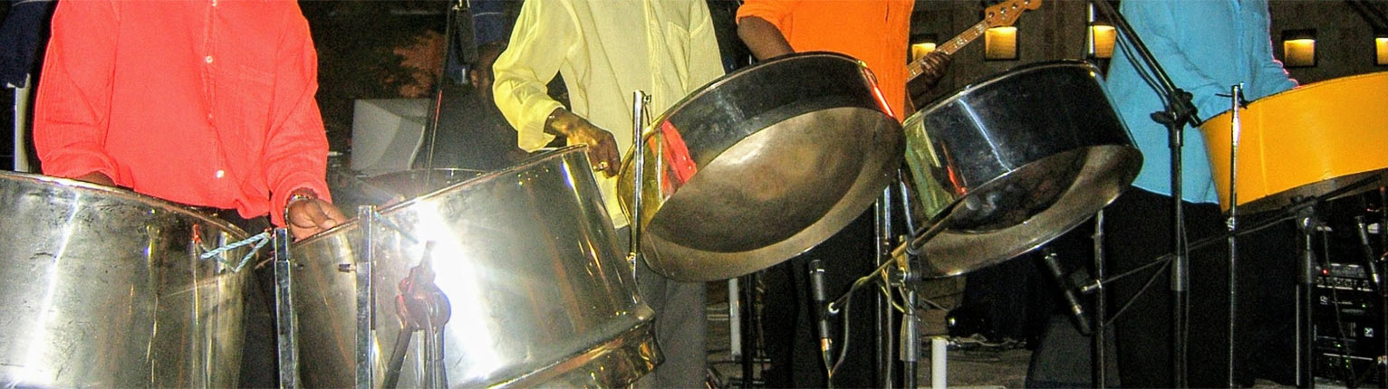 steel drums in our steel combo banner